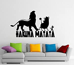 Hakuna Matata Wall Decal Vinyl Sticker the Lion King Home ...