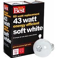 GE Private Label 90858 Do it Halogen Light Bulb-43W 4PK SOFT WHITE BULB