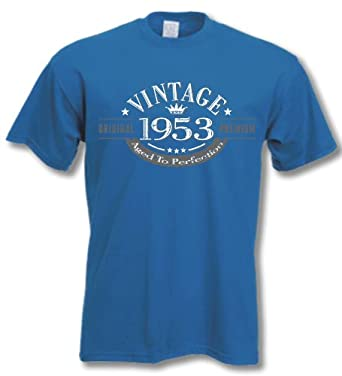 My Generation Gifts 1953 Vintage Year - 61st Birthday Gift Present T-Shirt Mens Royal Blue S