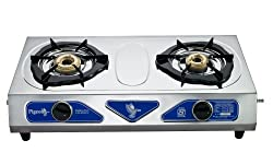Pigeon Stainless Steel Duo LPG Stove, 2 Burner