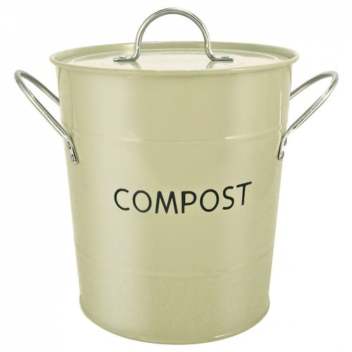bins storage uk sage green kitchen compost bin removable inner bucket by eddingtons. Black Bedroom Furniture Sets. Home Design Ideas