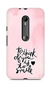 AMEZ to think of you is to smile Back Cover For Motorola Moto Turbo