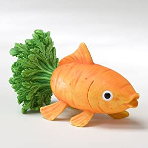 Home Grown from Enesco Carrot Goldfish Figurine 2.5 IN
