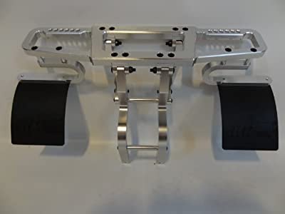 Short Course Truck CNC Aluminum Front AND Rear Bumpers (silver) for 1:5 Scale