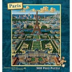 Cheap Dowdle Folk Art Paris 500 Pc Dowdle Folk Art Puzzle (B0017U14OS)
