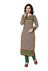 AMP IMPEX Ethnicwear Women's Kurti Fabric Brown Free Size