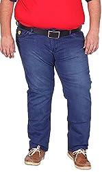 Xmex Men's Denim Jeans (AF-1004D.BLUE, Dark Blue, 46)