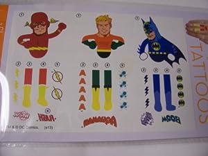 Amazon.com: DC Comics Hand Tattoos ~ Flash, Aquaman, Batman (3 Tattoos