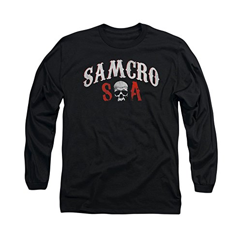 Sons Of Anarchy Tv Series Samcro Forever Soa Logo Adult L-Sleeve T-Shirt
