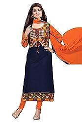 Madhuram Fashion Heavy Embroidery Designer Cotton Dress Material
