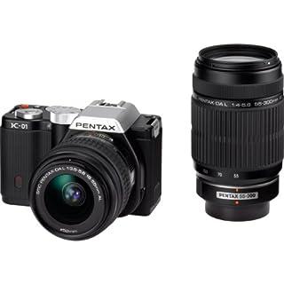PENTAX デジタル一眼カメラ K-01ダブルズームレンズキット ブラック/ブラック K-01WZK BK/BK