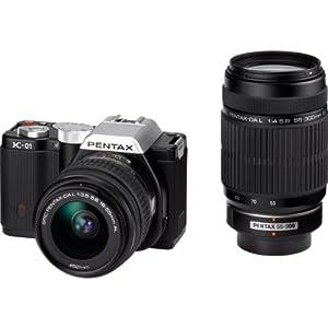 PENTAX ミラーレス一眼カメラ K-01ダブルズームレンズキット ブラック/ブラック K-01WZK BK/BK