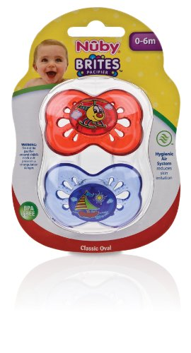 Nuby Brites Butterfly Shield Pacifier, 0-6 Months