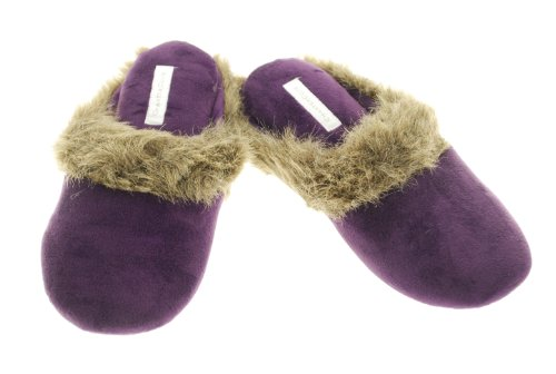 Cheap Charter Club Women's Casual Slip-on Velour Faux Fur Trim Clog House Shoes Slippers (B007XKZ5KU)