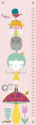 Oopsy Daisy A Very Fairy Topiary by Suzy Ultman Growth Charts, 12 by 42-Inch