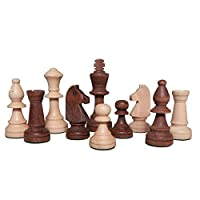 Gugertree Wood Weighted Chess Pieces - Pieces Only - No Board - 3.5 Inch King
