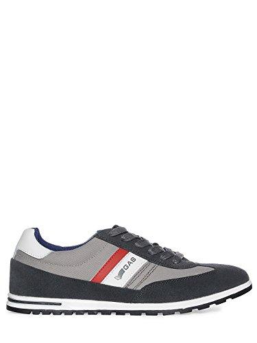 GAS foot wear Sneaker uomo, (nero/grigio), 44