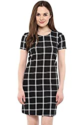 Annabelle by Pantaloons Women's Tunic Dress ( 205000005623530, Black, X-Large)