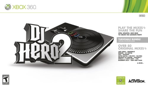 DJ Hero 2 Turntable Bundle -Xbox 360 (Turntable 3d compare prices)