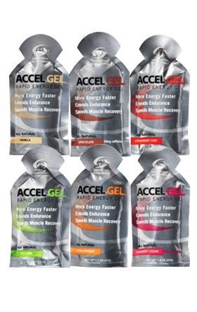 Accelerade Energy Gel Mixed 24 Pack W/ Free OSMO Nutrition Trial Pack (24 Mixed Gels) (Accelerade Energy Gel compare prices)