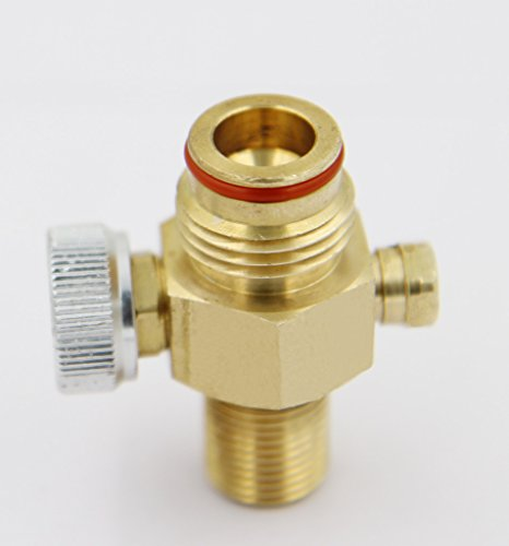 Taousa 70233 Brass CO2 Pin Valve On/Off for Paintball Tanks (Ball Valve Pin compare prices)