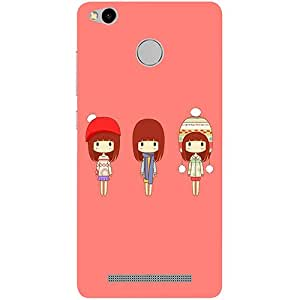 Casotec Cute Girls Design 3D Printed Hard Back Case Cover for Xiaomi Redmi 3S Prime