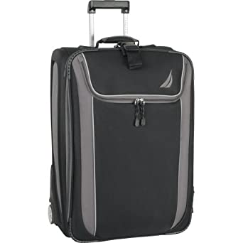 Nautica Luggage Spinnaker 28 Inch Expandable Upright Bag, Black/Grey, One Size