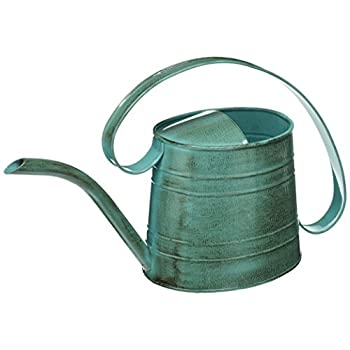 ROBERT ALLEN MPT01505 Danbury Metal Watering Can, Surf Light Blue