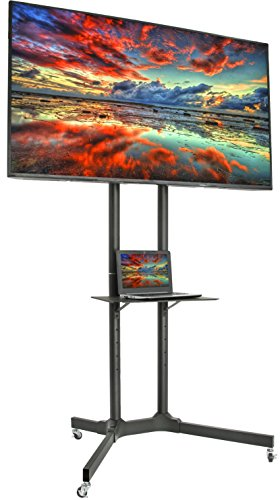 VIVO TV Cart for LCD LED Plasma Flat Panel Stand w/Wheels Mobile fits 32
