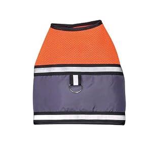 Zack & Zoey Polyester Dog Mesh Harness Vest, XX-Small, Orange