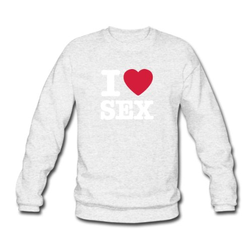 Spreadshirt, i love sex, Men's Sweatshirt, salt & pepper, L