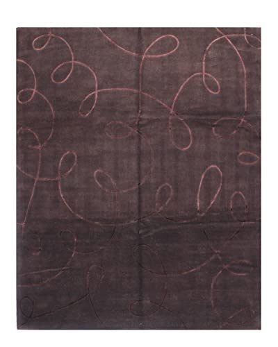 Bashian Hand Knotted Kodari Rug, Chocolate, 8' x 9' 9