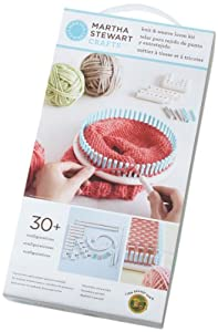 Martha Stewart Crafts Lion Brand Yarn 5000-100 Knit and Weave Loom Kit