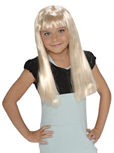 Child'S Rock Star Long Blonde Wig