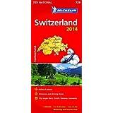 Switzerland 2014 National Map 729 (Michelin National Maps)