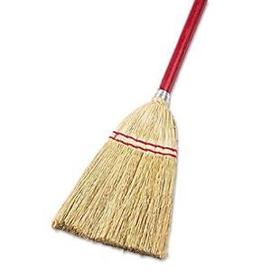 UNISAN Lobby/Toy Broom, Corn Fiber Bristles, 39 Inch Wood Handle, Red/Yellow (951T)