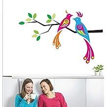 Rawpockets Love Birds On Tree' Wall Decal Sticker