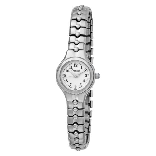 Caravelle by Bulova Women's 43L72 Expansion Bracelet White Dial Watch