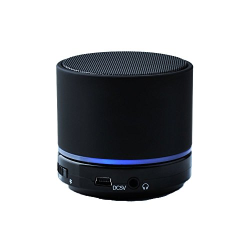 Victsing Portable Mini Rechargeable Bluetooth Speaker with Microphone, AUX, Micro SD Card Support for iPhone SE iPhone 6s Plus 6, iPad, Samsung S7 S7 Edage S6 S6 Edage, Nexus, HTC and More - Black