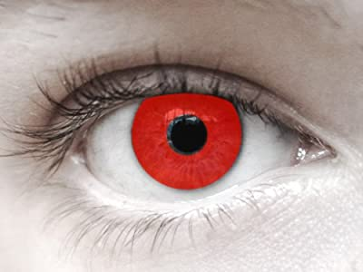 Eyespy Daily RED Haloween Contact Lens Beautiful U Hair Beauty