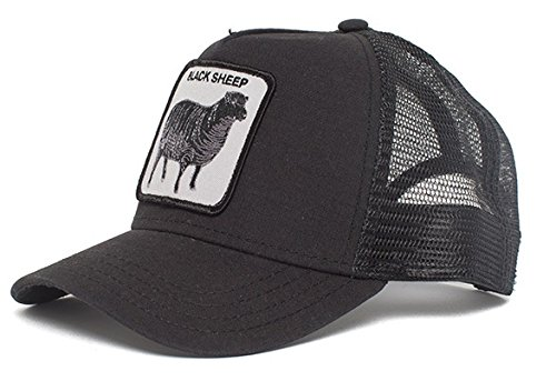 Goorin Bros. Men's Naughty Lamb Baseball, black, One Size (Color: Black Sheep, Tamaño: One Size)