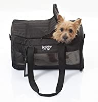 Airline Approved Pet Carrier for Cabin Travel - Soft crate for dogs and cats that fits cabin under seat storage, approved by major airlines, Improved and Reinforced Design, Ebony Black by 2PET