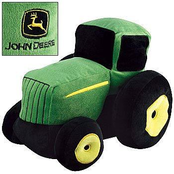 John Deere Pickles 12-Inches Long Plush Shaped Pillow, Green Tractor