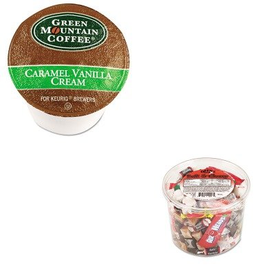 Kitgmt6700Ctofx00013 - Value Kit - Green Mountain Coffee Roasters Caramel Vanilla Cream Coffee K-Cups (Gmt6700Ct) And Office Snax Soft Amp;Amp; Chewy Mix (Ofx00013)