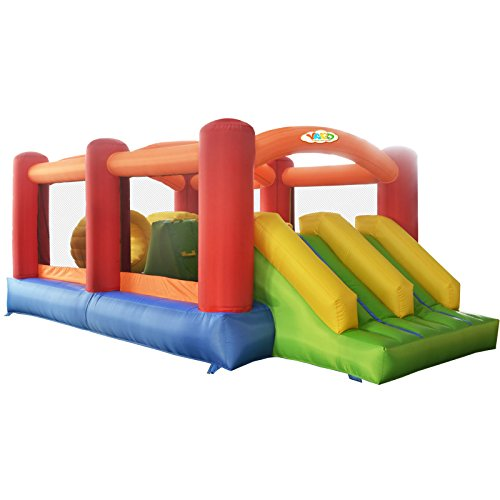 Yard Inflatable Bouncers with Slide Bouncy House Obstacle Course with Blower Best Gift for Kids
