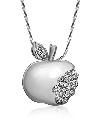 Absolute Crystals Set catenina e pendente Apple Argentato