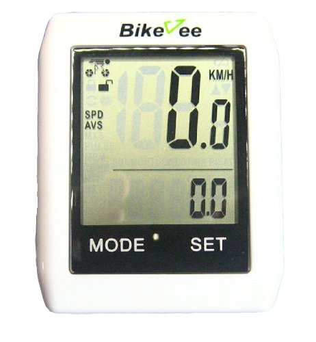 Touch Screen Wireless Bicycle Bike Computer Speedometer (white)