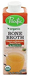 Pacific Foods Organic Turkey with Rosemary Sage and Thyme Bone Broth, 8 Fluid Ounce -- 12 per case.