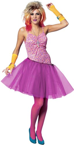 Women's 80s Glam Girl Halloween Costume (Sz:12-14)