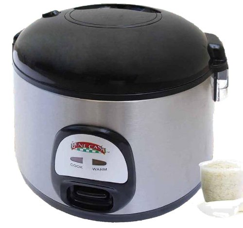 Benecasa Bc-43921 7-Cup (Uncooked) Stainless Steel Thermo Rice Cooker front-2779